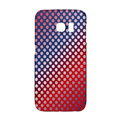 Dots Red White Blue Gradient Galaxy S6 Edge