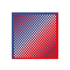 Dots Red White Blue Gradient Satin Bandana Scarf