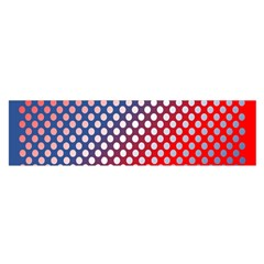 Dots Red White Blue Gradient Satin Scarf (oblong)