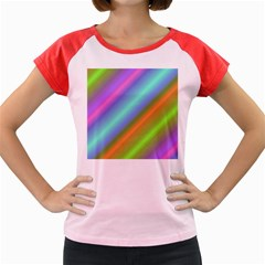 Background Course Abstract Pattern Women s Cap Sleeve T Shirt