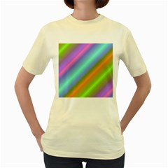 Background Course Abstract Pattern Women s Yellow T Shirt