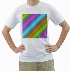 Background Course Abstract Pattern Men s T Shirt (white) (two Sided)