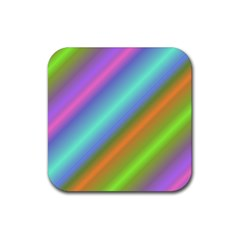 Background Course Abstract Pattern Rubber Coaster (square)