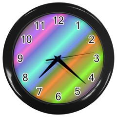 Background Course Abstract Pattern Wall Clocks (black)