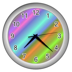 Background Course Abstract Pattern Wall Clocks (silver)