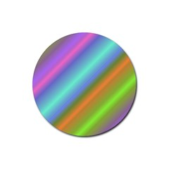Background Course Abstract Pattern Rubber Coaster (round)