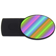 Background Course Abstract Pattern Usb Flash Drive Oval (2 Gb)