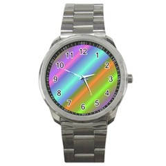 Background Course Abstract Pattern Sport Metal Watch