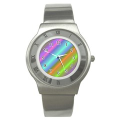 Background Course Abstract Pattern Stainless Steel Watch