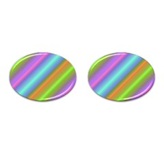 Background Course Abstract Pattern Cufflinks (oval)