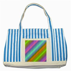 Background Course Abstract Pattern Striped Blue Tote Bag