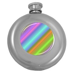 Background Course Abstract Pattern Round Hip Flask (5 Oz)