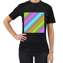 Background Course Abstract Pattern Women s T Shirt (black)