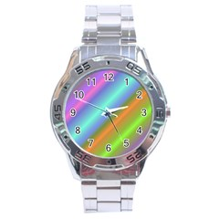 Background Course Abstract Pattern Stainless Steel Analogue Watch