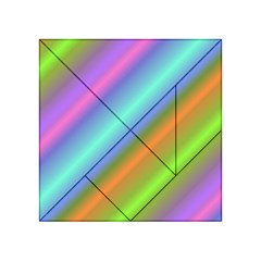 Background Course Abstract Pattern Acrylic Tangram Puzzle (4  X 4 )