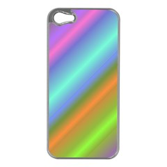 Background Course Abstract Pattern Apple Iphone 5 Case (silver)