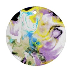 Watercolour Watercolor Paint Ink Ornament (round)