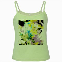 Watercolour Watercolor Paint Ink Green Spaghetti Tank