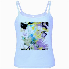 Watercolour Watercolor Paint Ink Baby Blue Spaghetti Tank