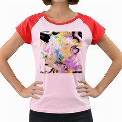 Watercolour Watercolor Paint Ink Women s Cap Sleeve T Shirt