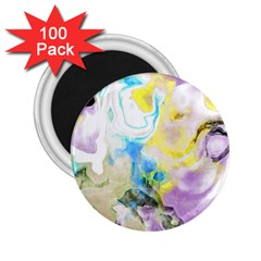Watercolour Watercolor Paint Ink 2 25  Magnets (100 Pack)