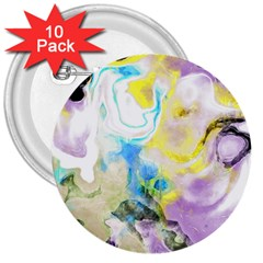 Watercolour Watercolor Paint Ink 3  Buttons (10 Pack)