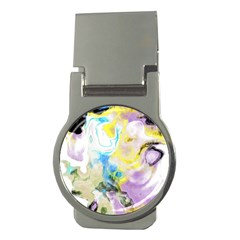 Watercolour Watercolor Paint Ink Money Clips (round)