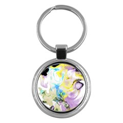 Watercolour Watercolor Paint Ink Key Chains (round)