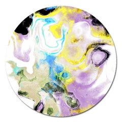 Watercolour Watercolor Paint Ink Magnet 5  (round)