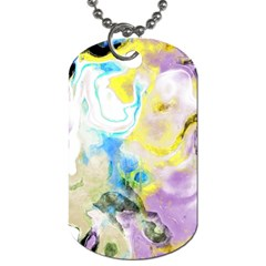 Watercolour Watercolor Paint Ink Dog Tag (two Sides)