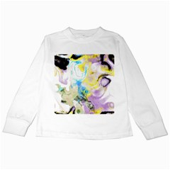 Watercolour Watercolor Paint Ink Kids Long Sleeve T Shirts