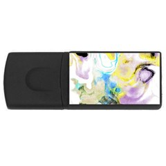 Watercolour Watercolor Paint Ink Rectangular Usb Flash Drive
