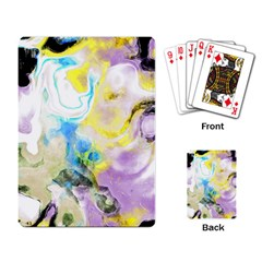 Watercolour Watercolor Paint Ink Playing Card