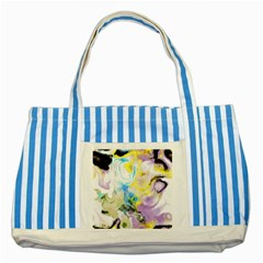 Watercolour Watercolor Paint Ink Striped Blue Tote Bag