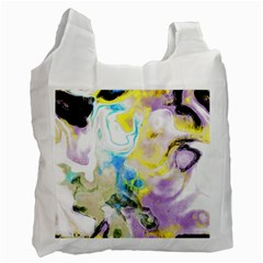 Watercolour Watercolor Paint Ink Recycle Bag (two Side)