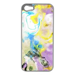 Watercolour Watercolor Paint Ink Apple Iphone 5 Case (silver)
