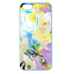 Watercolour Watercolor Paint Ink Apple Seamless Iphone 5 Case (color)