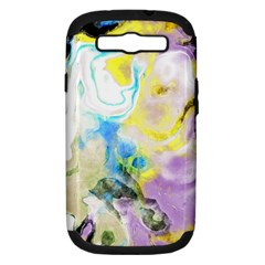 Watercolour Watercolor Paint Ink Samsung Galaxy S Iii Hardshell Case (pc+silicone)