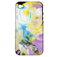 Watercolour Watercolor Paint Ink Apple Iphone 4/4s Hardshell Case (pc+silicone)