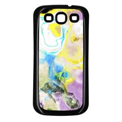 Watercolour Watercolor Paint Ink Samsung Galaxy S3 Back Case (black)
