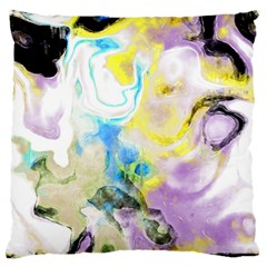 Watercolour Watercolor Paint Ink Large Flano Cushion Case (two Sides)