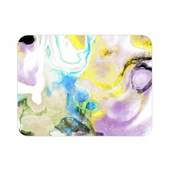 Watercolour Watercolor Paint Ink Double Sided Flano Blanket (mini)