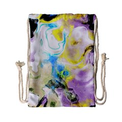 Watercolour Watercolor Paint Ink Drawstring Bag (small)