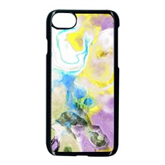 Watercolour Watercolor Paint Ink Apple Iphone 7 Seamless Case (black)