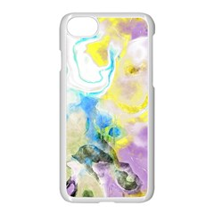 Watercolour Watercolor Paint Ink Apple Iphone 7 Seamless Case (white)