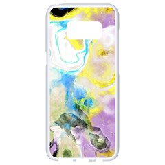 Watercolour Watercolor Paint Ink Samsung Galaxy S8 White Seamless Case