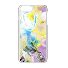 Watercolour Watercolor Paint Ink Apple Iphone 8 Plus Seamless Case (white)