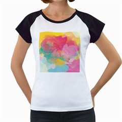 Watercolour Gradient Women s Cap Sleeve T