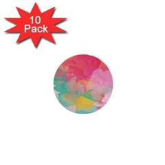 Watercolour Gradient 1  Mini Buttons (10 Pack)