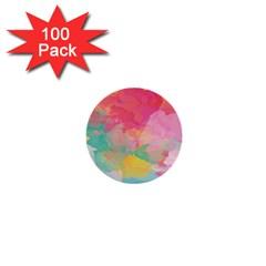 Watercolour Gradient 1  Mini Buttons (100 Pack)